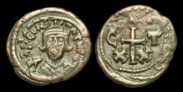 Ancient Coins - BY-FKJW - CONSTANS II AE Half Follis, c652-7, c22mm, c5.8g.