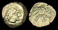 Ancient Coins - CE-FTPJ - WEST CENTRAL GAUL, Pictones, Gold Stater ca.100-60BC.            Full example!