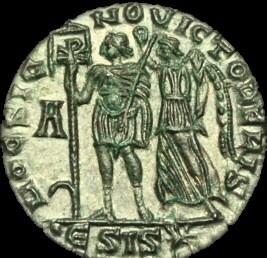 Ancient Coins - LT-PQBT - VETRANIO - AE2, ca.350AD.   ........HOC SIGNO VICTOR ERIS.......