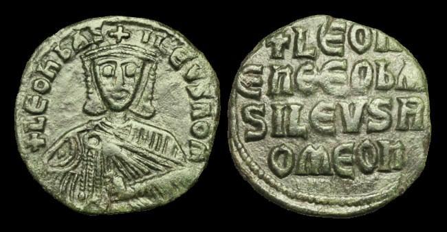Ancient Coins - BY-BQDD - LEO VI AE Follis, c886-912, c24mm, c5.9g.