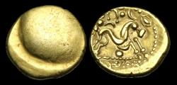 Ancient Coins - CE-FTBQ - CELTIC GALLO-BELGIC 'War Type III' Gold Stater