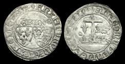 World Coins - AG-BTDJ - ANGLO-GALLIC HENRY VI AR Grand Blanc aux ecu, ca.1422-61AD