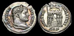 Ancient Coins - LT-BWUJ - MAXIMIANUS - AR Argenteus, ca.295AD.        NICE TONING