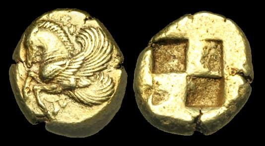 Ancient Coins - GR-KDQW - ASIA MINOR - MYSIA, Lampsakos, Electrum Stater, c500-450BC.....VERY-RARE.....