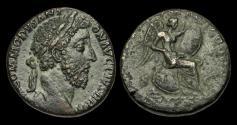 Ancient Coins - OR-KQDJ - COMMODUS - Ori. Sestertius ca.185AD.                         VICT BRIT - SCARCE