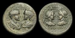 Ancient Coins - IM-PTQW - GORDIAN III + TRANQUILLINA - CILICIA, Seleucia ad Calycadnum C/S. AE 38 Medallion