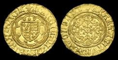 Ancient Coins - LN-KQPF - HENRY VI - Annulet Issue Gold Quarter Noble, ca.1422-30AD.            PLEASING