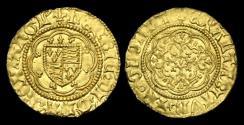 World Coins - LN-KQPF - HENRY VI - Annulet Issue Gold Quarter Noble, ca.1422-30AD.            PLEASING