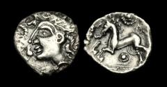 Ancient Coins - CE-TQBU - ICENI - BURY DIADEM - Silver Unit, ca.50-20BC.