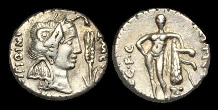 Ancient Coins - RE-BDWW - Q Caecilius Metellus Pius, AR Denarius, c47- Spring 46BC.