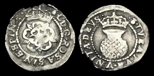 Ancient Coins - SC-PWJD - CHARLES I Silver Two Shillings, 1625-34