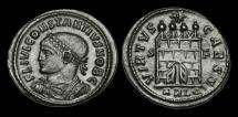 Ancient Coins - LT-FTQD - CONSTANTIUS II as CAESAR - AE3, ca.327AD.                  DOOR'S OPEN