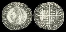 Ancient Coins - TU-BTUP - ELIZABETH I - 2nd Iss. Shilling, 1560-1AD.