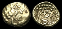 CE-BKWB - DUROTRIGES - CHUTE TY. I, Gold Stater, ca.65-58BC.