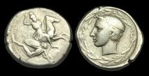 Ancient Coins - GR-WKUF - SICILY - Gela, AR Didrachm, ca.425BC.           VERY-RARE