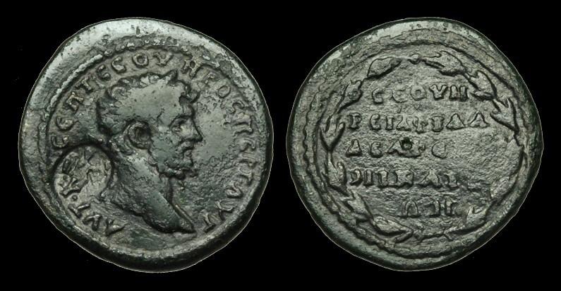 Ancient Coins - IM-TQJF - SEPTIMIUS SEVERUS - BITHYNIA, Nicaea, AE28, ca.193-211AD.                        RARE