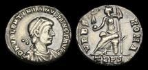 Ancient Coins - LT-JTUK - VALENTINIAN II AR Siliqua, ca.375-8AD