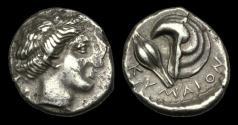 Ancient Coins - GR-QPFJ - ITALY - CAMPANIA, Cumae (Kymai), AR Drachm or Nomos Stater, ca.420-380BC