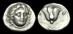 Ancient Coins - GR-PKUW - ASIA MINOR - RHODOS, Rhodes AR Didrachm, ca.305-275BC.