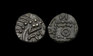 World Coins - SS-FTKW - ANGLO-SAXON - SERIES E Ty. G 'Insect', AR Sceat, ca.700-60AD.