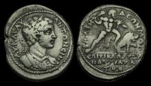 Ancient Coins - IM-DKTF - CARACALLA - Blaundos, Lydia, AE32, ca.198-217AD.                  One of  Herakles labours.