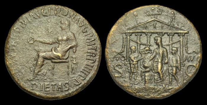 Ancient Coins - OR-BQDQ - CALIGULA - Ori. Sestertius, c37-8AD.....RARE.....