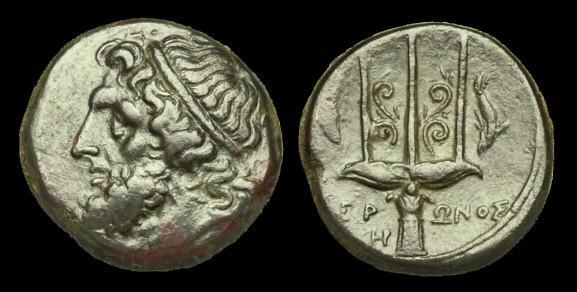 Ancient Coins - GR-FKBU - SICILY - Syracuse. Hieron II AE Litra, c263-218BC, c20mm, c8.4g