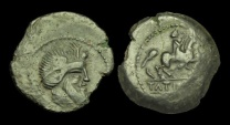 CE-WPFD - SOUTH WEST GAUL, RUTENI (Rodez), AE18, ca.44-43BC.