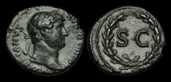 Ancient Coins - OR-KBPF - HADRIAN - AE As, ca.134-8AD.