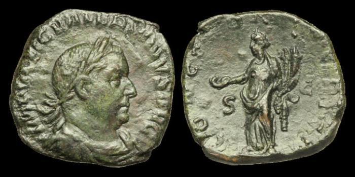Ancient Coins - OR-BQJU - VALERIAN I - AE Sestertius, c254AD.