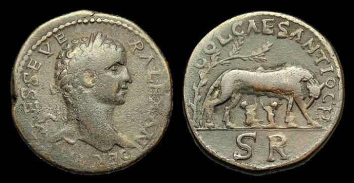 Ancient Coins - IJ-194 - SEVERUS ALEXANDER - Pisidia, Antiochia, AE32, c222-235AD.....Ex. I Jones collection.....