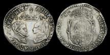 Ancient Coins - TU-JKWU - PHILIP & MARY - Sixpence, ca.1554.                             SCARCE