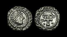 World Coins - SS-PQFB - KENTISH BI Ty. 27b AR Sceat, ca.700-710AD.