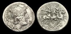 Ancient Coins - RE-JWQD - REPUBLIC - C. Aelius AR Denarius, ca.209-208BC