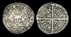 World Coins - ED-FTDB - EDWARD III - EDWARD III - Treaty/Post Treaty 'mule' Halfgroat, ca.1369AD.  RARE