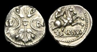 Ancient Coins - CE-JBJT - CATUVELLAUNI - CUNOBELIN, Silver Unit, c20-43AD.....VERY-RARE.....