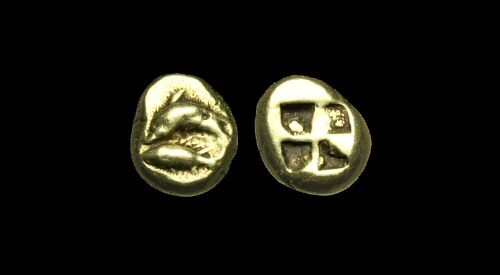 Ancient Coins - GR-PDBJ - ASIA MINOR - MYSIA, Kyzikos, Electrum Hekte, ca.550-500BC.              VERY-RARE