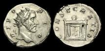 Ancient Coins - AN-BWTD - DIVO ANTONINUS PIUS - Restoration by Trajan Decius.