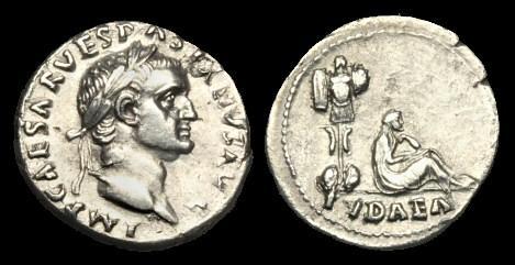 Ancient Coins - TI-FKBQ - VESPASIAN AR Denarius, c69-70, c18mm, c2.7g.