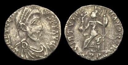 Ancient Coins - LT-PBPF - EUGENIUS - AR Siliqua, c392-4AD.....RARE.....