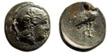 Ancient Coins - Aiolis, Neonteichos. 2nd century BC. AE 11mm (1.29 gm). SNG Copenhagen 244