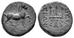Ancient Coins - Karia, Mylasa. 2nd-1st century BC. AE 16mm (4.78 gm). SNG Copenhagen 423