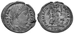 Ancient Coins - Constantine I. 307/310-337 AD. AE Follis (3.06 gm, 20mm). Treveri (Trier), 323-324 AD. RIC 429