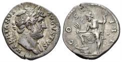 Ancient Coins - Hadrian. 117-138 AD. AR Denarius (3.42 gm, 18mm). Rome mint. Struck circa 125-126/7 AD. RIC II.3 789; RSC 310