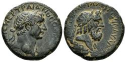 Ancient Coins - Phoenicia, Dora. Trajan, 98-117 AD. AE 24mm (13.94 gm). Dated CY 175, 111/112 AD. Rosenberger 26