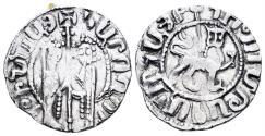 World Coins - Kingdom of Cilician Armenia. Hetoum I and Zabel. 1226-1271. AR Tram (2.81 gm, 21mm). Bedoukian 1192