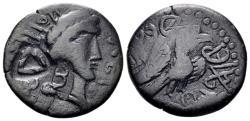 Ancient Coins - Scythia, Olbia. Late 1st century AD. AE 23mm (7.16 gm). RPC II 490