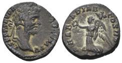 Ancient Coins - Septimius Severus. 198-211 AD. AR Denarius (2.45 gm, 19mm). Rome mint. Struck 195 AD. RIC 58. Rare