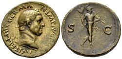 "World Coins - 19th Century or earlier AE Cast ""Sestertius"" (23.71 gm, 34mm). ""Paduan"" medal. Vitellius"