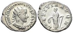 Ancient Coins - Gordian III. 238-244 AD. AR Antoninianus (4.37 gm, 22mm). Rome mint. Struck late 240-early 243 AD. RIC IV 86